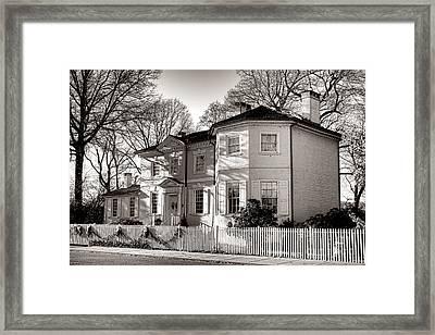 The Laurel Hill Mansion Framed Print by Olivier Le Queinec