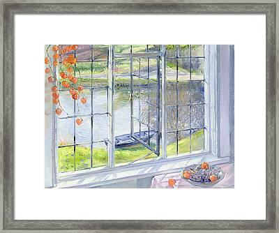The Lavender Bowl Framed Print by Timothy Easton