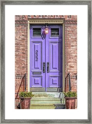 The Lavender Door Framed Print by Jon Woodhams