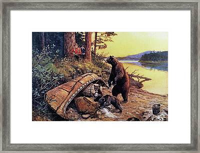 The Law Of The Wilderness Framed Print by Philip R Goodwin