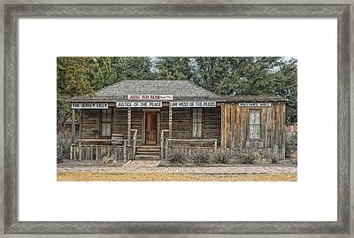 The Law West Of The Pecos Framed Print