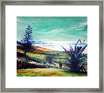 The Lawn Pandanus Framed Print