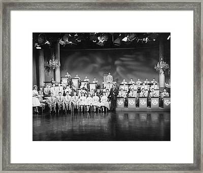 The Lawrence Welk Show Framed Print by Underwood Archives