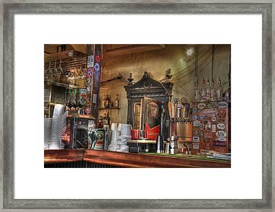 The Lazy Gecko Bar Key West Framed Print by Scott Bert