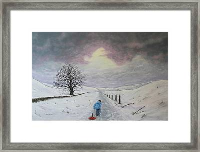 The Leader Of The Pack Framed Print by Paul Newcastle