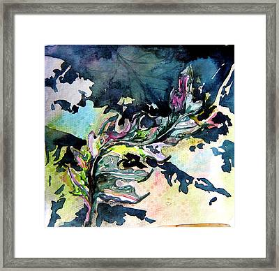 The Leaf Framed Print by Mindy Newman
