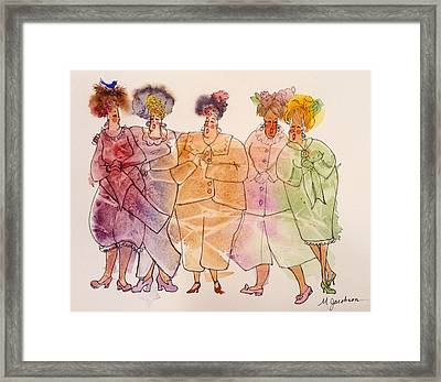 The Leaner Framed Print by Marilyn Jacobson
