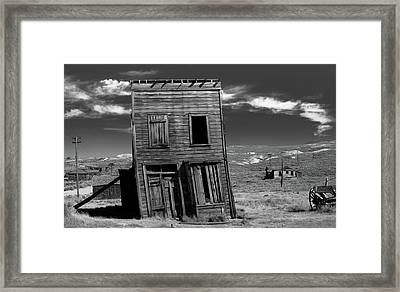 The Leaning Tower Of Bodie Framed Print by Marius Sipa