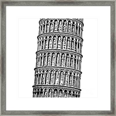 The Leaning Tower Of Pisa Graphic Framed Print by Edward Fielding