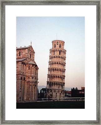 The Leaning Tower Of Pisa Framed Print by Marna Edwards Flavell