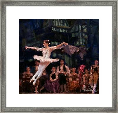 The Leap Framed Print by Carrie Joy Byrnes