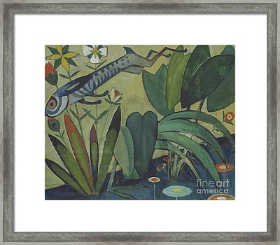 The Leap Of The Rabbit Framed Print by Amadeu de Souza-Cardoso