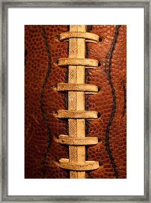 The Leather Football Framed Print by David Patterson