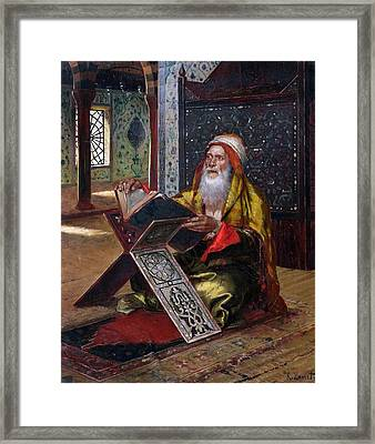 The Lectern Framed Print by Ernst Rudolphe