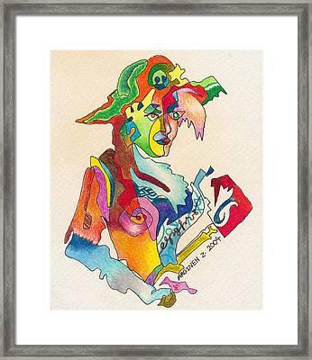 The Left-handed Artist  Framed Print by Arg Gogo