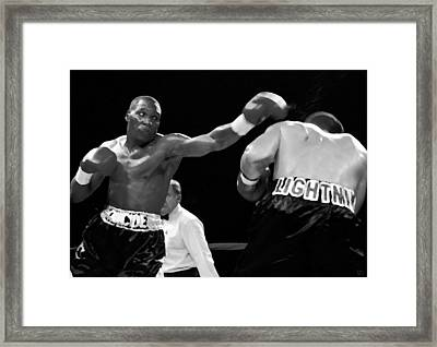 The Left Jab Framed Print by David Lee Thompson