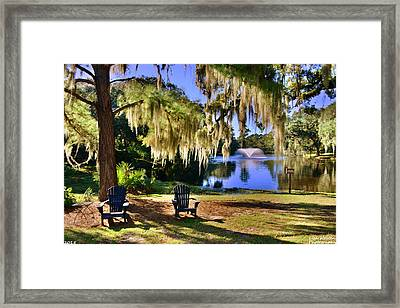The Legare-waring Gardens At Charles Town Landing Framed Print by Lisa Wooten