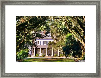 The Legare-waring House At Charles Town Landing Framed Print