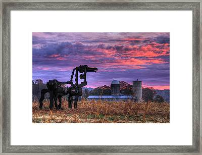 The Legend Lives On The Iron Horse Art Framed Print