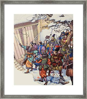 The Legend Of The Forty-seven Ronin Framed Print by Pat Nicolle