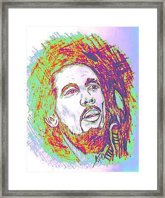 The Legendary Bob Marley Framed Print by Collin A Clarke