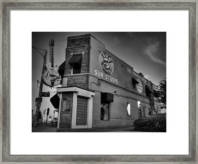 The Legendary Sun Studio 001 Bw Framed Print by Lance Vaughn