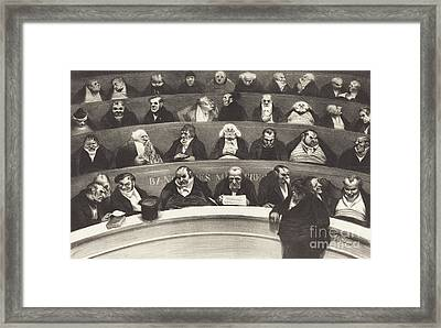 The Legislative Belly Framed Print by Honore Daumier