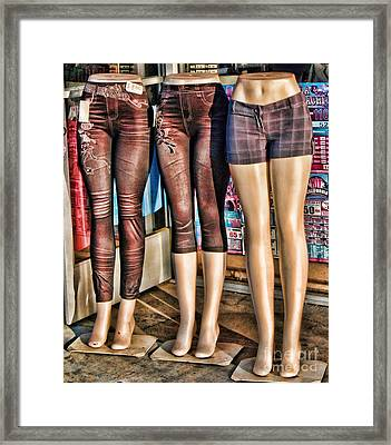 The Legs Have It Framed Print