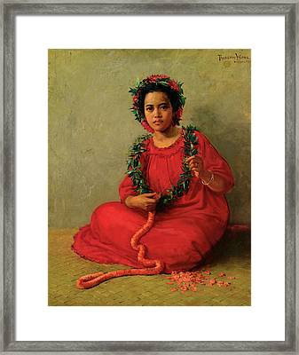 The Lei Maker Framed Print