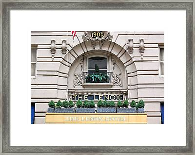 The Lenox Hotel - Boston Ma Framed Print