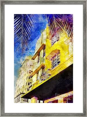 The Leslie Hotel South Beach Framed Print by Jon Neidert