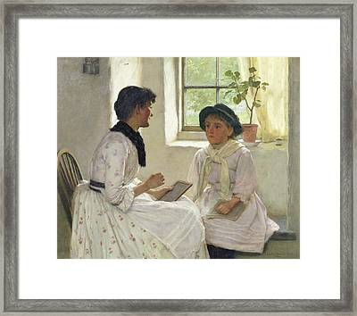 The Lesson Framed Print by Edwin Harris