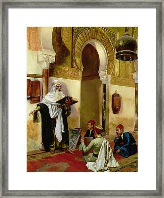 The Lesson Framed Print by Rudolphe Ernst