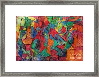 The Letter Alef Framed Print by David Baruch Wolk