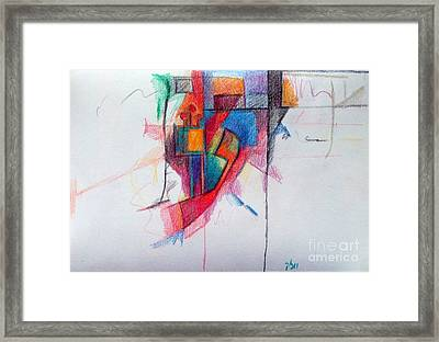 The Letter Ayin Framed Print by David Baruch Wolk