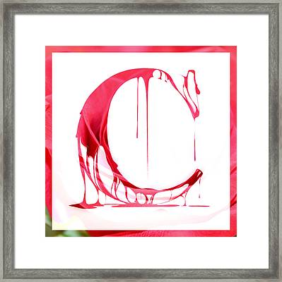 The Letter C Framed Print by Cathie Tyler