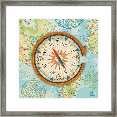 The Letter C For Compass Framed Print