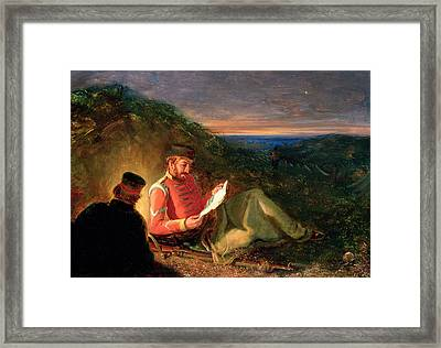 The Letter From Home Framed Print by James Drummond