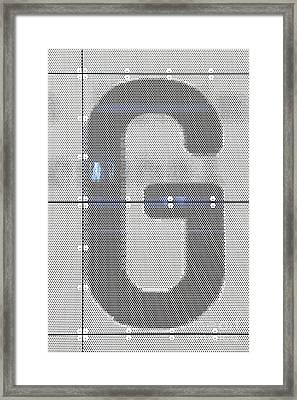 Framed Print featuring the photograph The Letter G by Stephen Mitchell