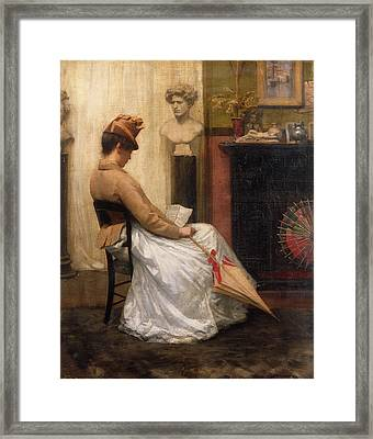 The Letter Framed Print by Henry John Hudson