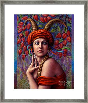 Framed Print featuring the painting The Letter by Jane Bucci