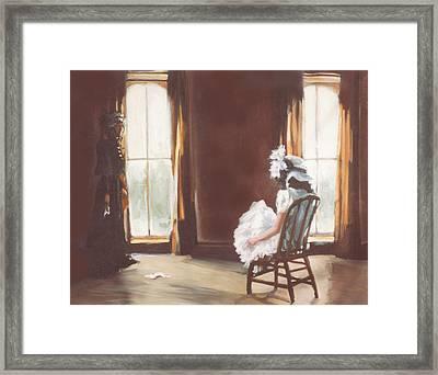The Letter Framed Print by Linda Crockett