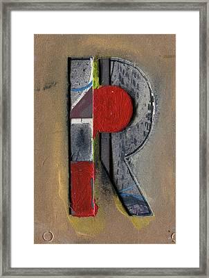 The Letter R Framed Print