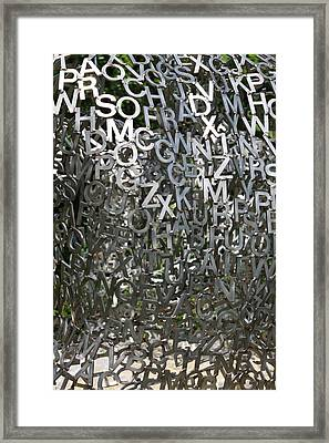 Framed Print featuring the photograph The Letters That Make The Words by Kate Purdy