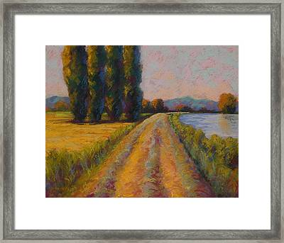 The Levee Framed Print by Marion Rose