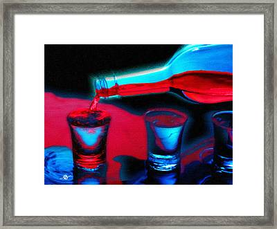 The Drink That Kills You Ode To Addiction Framed Print by Tony Rubino