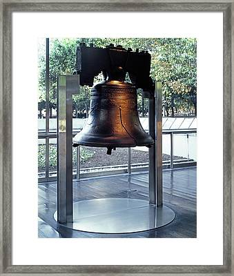 The Liberty Bell, On Display Framed Print by Everett