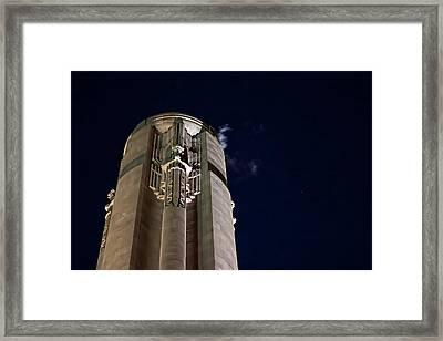 The Liberty Memorial At Night Framed Print