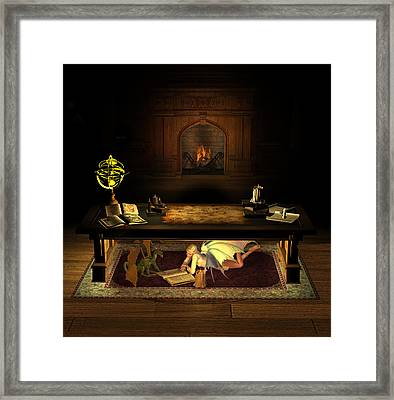 The Library . . . Framed Print
