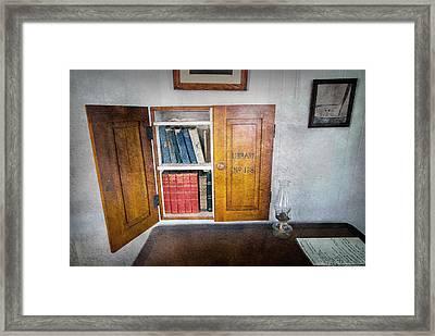 The Library - Hooper Strait Lighthouse Framed Print